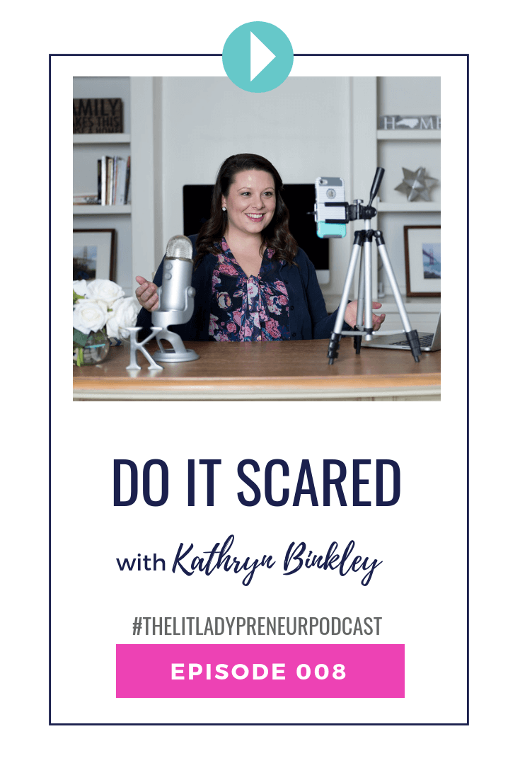 Is fear holding you back? Here are three steps to transform fear and turn it intoexcitement. #thelitladypreneurpodcast